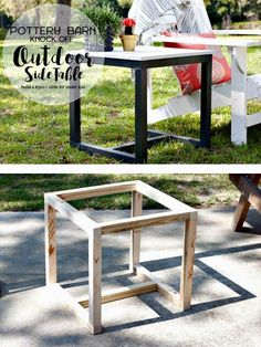 ideas for pottery barn outdoor furniture patio diy table Diy Garden Furniture, Diy Outdoor Furniture, Diy Furniture Plans, Furniture Projects, Furniture Makeover, Furniture Design, Furniture Layout, Wood Furniture, Building Furniture