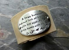 Leather CuffHand Stamped CuffLeather by EquineExpressionsbyD, $43.00