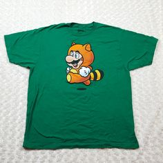 Mario Nintendo Tanooki Tanuki Raccoon Suit T-Shirt Men's XL Medium FREE SHIPPING #Unbranded #GraphicTee