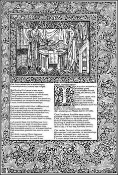 Troylus and Cressida in The kelmscott Chaucer - Edward Burne Jones and William Morris