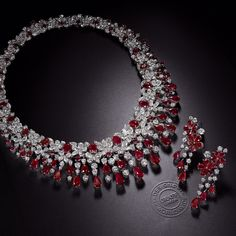 New from the #GraffDiamonds workshop in London, an exquisite floral cascade of rubies and diamonds