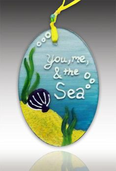 You, Me & The Sea Ornament by Amalia Flaisher | Sand & Water Creations in Glass at aRT on Glass Studio