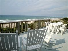 Watch the Kids Play on the Beach as You Have Your Morning Coffee on the Deck