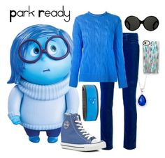 """""""Sadness~Disney Bound"""" by snowdragon2024 ❤ liked on Polyvore featuring Disney, Victoria Beckham, Polo Ralph Lauren, Big Star, Yves Saint Laurent, Casetify and City Rox"""
