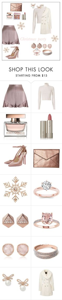 """""""Christmas party 💕 7 days until Christmas"""" by jrbcfashion ❤ liked on Polyvore featuring Zimmermann, A.L.C., Dolce&Gabbana, Ilia, Rebecca Minkoff, John Lewis, FOSSIL and Monica Vinader"""