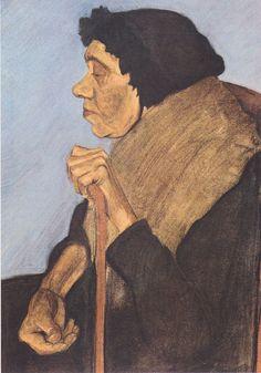 paula modersohn-becker(1876-1907), old blind woman sitting, c. 1899. http://www.the-athenaeum.org/art/detail.php?ID=94269
