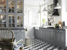 Ikea Kitchen Cabinets Gray inspiring kitchens you won't believe are ikea | gray cabinets