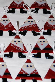 Santa ornament These would be very easy to make a Hot Pots Pottery!!!
