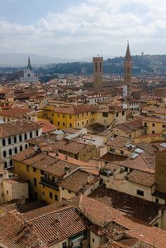 Italy. A view of Florence from Duomo's Campanile