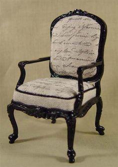 jute ge-sjabloneerde stoel / burlap stencil chair. Have to have it!!!