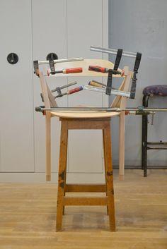 collage chaise en bois design