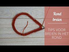 Rondbreien met een rondbreinaald // voor beginners - YouTube Sewing Projects, Gold Necklace, Bracelets, Knowledge, Jewelry, Diy, Youtube, Gold Pendant Necklace, Jewlery