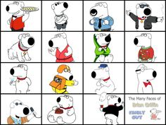 @FamGuy_Quotes The many faces of Brian Griffin ... @SethMacFarlane