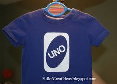 Full of Great Ideas: UNO First Birthday T-Shirt