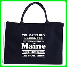 Cant Buy Happiness But You Can Live In Maine - Tote Bag - Top handle bags (*Amazon Partner-Link)