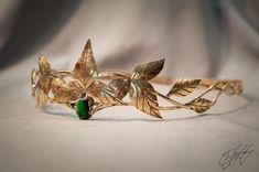 Elven diadem wedding Tiara bridal headband by glorfindiadems Hair Jewelry, Bridal Jewelry, Jewelry Rings, Jewelry Logo, Jewelry Quotes, Pearl Jewelry, Crystal Jewelry, Indian Jewelry, Jewelry Shop
