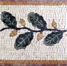 marble mosaic art | Mosaics - Mosaic Borders - Floral Design - BD264