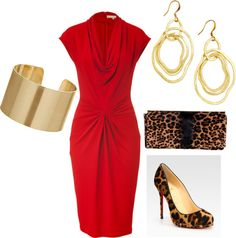 Always red, created by rosariososol on Polyvore