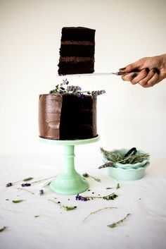 dark chocOlate & lavender cake