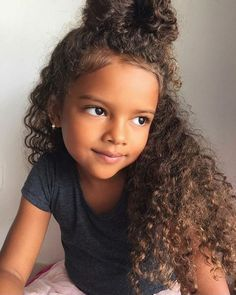 Hairstyles, kids curly hairstyles, little girl hairstyles, brown hairstyles Little Girl Hairstyles, Cute Hairstyles, Mixed Hairstyles, Brown Hairstyles, Braided Hairstyles, Braided Mohawk, Black Hairstyle, Hairstyle Ideas, Curly Hair Styles