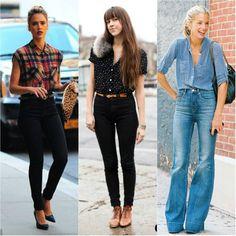 looks com calça preta cintura alta - Pesquisa Google