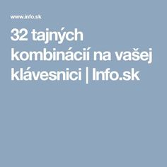 32 tajných kombinácií na vašej klávesnici Pc Mouse, Internet, Teaching, Youtube, Facebook, Youtubers, Teaching Manners, Learning, Education