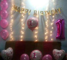 Birthday Decorations At Home, First Baby, Neon Signs, Holiday Decor