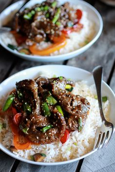 30 Minute Korean Beef + Toasted Sesame Rice