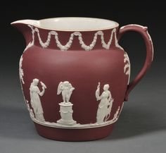 Wedgwood Crimson Jasper Dip Jug, England, c. 1920, sold for $711 in the January 2012 Fine Ceramics Auction