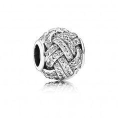 Pandora Charm Silber Funkelnder Liebesknoten 791537CZ