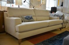 half price The Lounge Co Sofas Large 4 Seater Fabric Settee