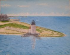 #Nantucket #Lighthouse - A View From the Ferry IV. Please visit my blog at ww.landscapesbyjack.blogspot.com #Brandpoint #painting