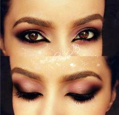Pretty in Pink Smoke Wedding Makeup For Brown Eyes, Wedding Day Makeup, Bridal Makeup Looks, Arabic Makeup, Indian Bridal Makeup, Pink Makeup, Beauty Makeup, Makeup You Need, Eye Make Up