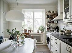 Gravity Home, Photography by Jonas Berg for Stadshem Minimalist Small Kitchens, Kitchen Interior, Kitchen Design, Kitchen Nightmares, Kitchen Themes, Kitchen Ideas, Kitchen Decorations, Decorating Kitchen, Scandinavian Interior Design