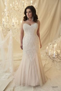 Callista Plus Size Bridal at The Couture Closet.