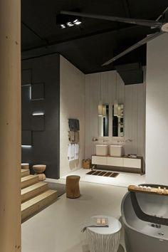 NEUTRA Flagship Store in milan - water_wellness_stone. #bathroom #spa #design #washbasins