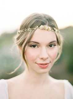 Dusty Rose & Fern Wedding Inspiration - Hushed Commotion Callan headpiece