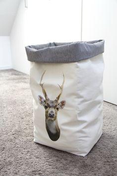 DIY - un grand sac de rangement en tissu - panier à linge pour Jo