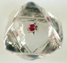 Corundum Var Ruby Inclusion in Diamond / Mineral Friends <3