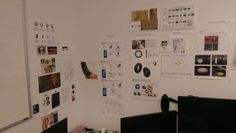 Wall of design influences.