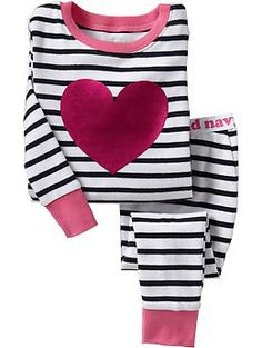 Striped Heart PJ Sets for Baby | Old Navy