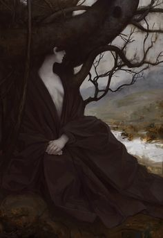 """anachronisticfairytales: """"Lee Parks """" the seer in the tree"""