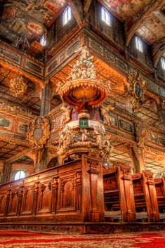 Pulpit in the Church of Peace in Swidnica, Poland | Daily-HDR | Nico Trinkhaus