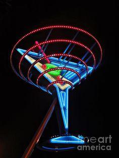 Neon Martini by Henry Kowalski Las vegas