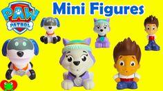 Paw Patrol Mini Figures Everest, Ryder, and Robo Dog