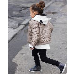 Layering it up in jacket and sweater from our favorite UK store @little_concept. Stop by the blog today for our ultimate denim guide for kids. Plus I found Flare jeans start at only $12, Score! www.Scoutthecity.com