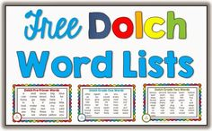 Free Dolch Words via Clever Classroom