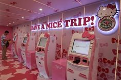 HELLO KITTY airways!! They pack you in like sardines but it's cute and pink so I must go to there.