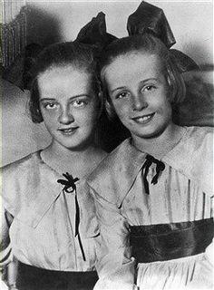 Bette Davis and her sister Bobby 1920