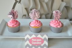 Pom-pom Cupcakes, Part Of The Elephun Experience Dessert Table By Sweet Society